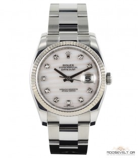 Rolex Datejust Index Diamants Pearl Dial