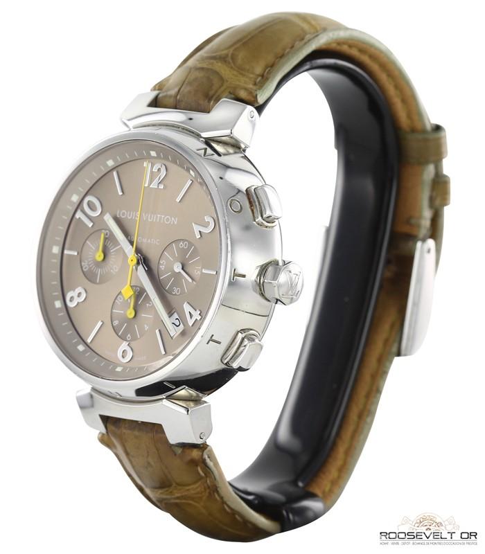 montre occasion paris Louis Vuitton Tambour Chronographe Automatique b8dca20388b
