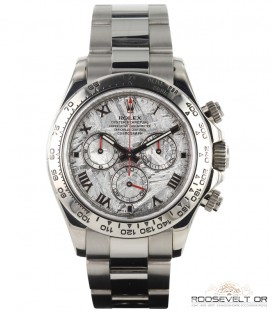Rolex Daytona white gold meteorite dial Roosevelt Or vente montre luxe occasion paris