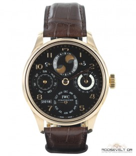 IWC Portugieser Calendrier Perpétuel Roosevelt Or achat vente montre luxe occasion